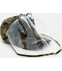 danni camo pvc face shield hat - olive