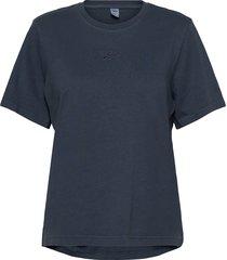 cl f washed tee t-shirts & tops short-sleeved blå reebok classics