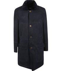 brunello cucinelli two cargo pocket furred coat