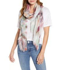 women's nordstrom silk gauze scarf, size one size - purple