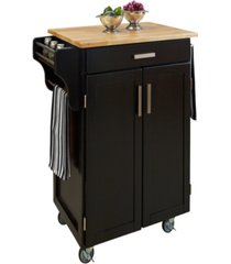 home styles cuisine cart with wood top