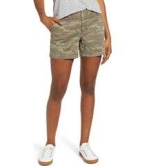 women's caslon cotton twill shorts, size 8 - green