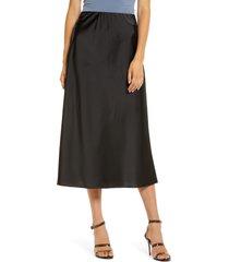women's wayf x bff chelsea side slit midi slip skirt