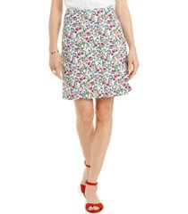 charter club floral-print skort, created for macy's