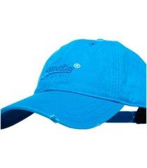 superdry vintage-like logo wash cap