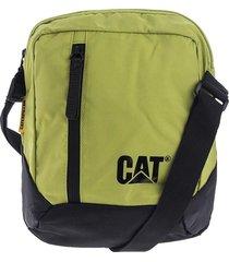 bolso manos libres verde-negro caterpillar table bag