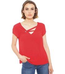 blusa io rojo - calce holgado