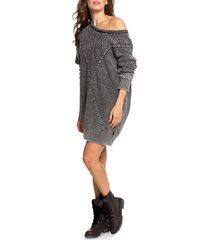 women's roxy snow day long sleeve sweater dress