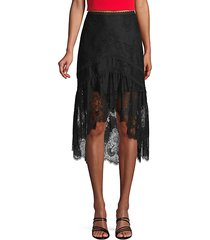 triss lace high-low skirt