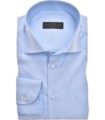 blauw overhemd john miller lichtblauw tailored fit