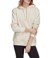 adidas originals adidias essentials fleece hoodie, size large in wonder white at nordstrom