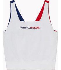 tommy hilfiger women's adaptive sweater tank bright white multi - xl