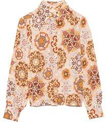 alessandria shirt in cream/pink