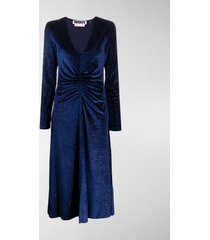 rotate number 7 ruched midi dress