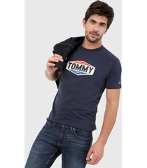camiseta azul navy-rojo-blanco tommy jeans