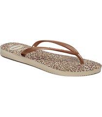 hav slim animals shoes summer shoes flip flops guld havaianas