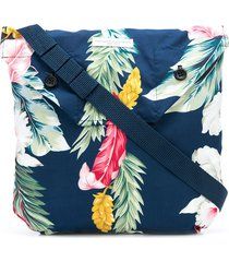 engineered garments tropical print shoulder pouch - blue