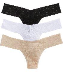 hanky panky 3-pk. lace original-rise thong underwear 48113pk