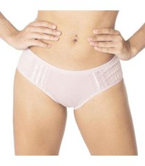 calcinha econfort modelo tanga com lateral larga feminina - feminino
