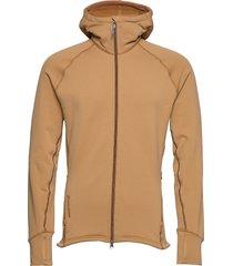 m's power houdi trueblack/trueblack s hoodie trui beige houdini