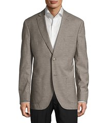 checked notch-lapel jacket