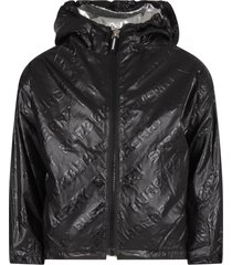 burberry black girl jacket with logo