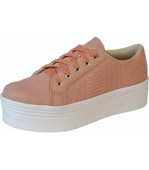 tenis   sapatenis flatform dona madame 051001 ros㪠- rosa - feminino - sintã©tico - dafiti