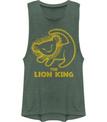 disney juniors' lion king stamp festival muscle tank top