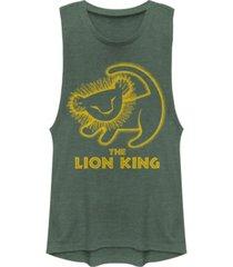 disney juniors' lion king stamp festival muscle tank top