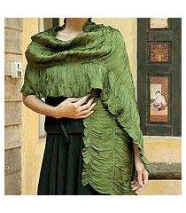 scarf, 'forest extravaganza' (thailand)