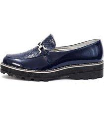 zapato azul blanco perla zd-056