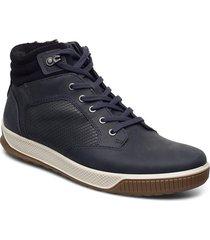 byway tred höga sneakers blå ecco