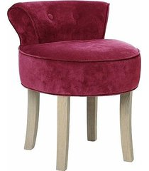 stołek fotel taboret welurowy sinaloa bordowy