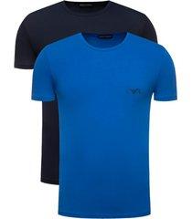 emporio armani 2-pack t-shirts blauw/donkerblauw
