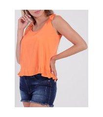 blusa regata feminina laranja