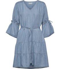 fiecr dress knälång klänning blå cream