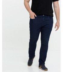 calça masculina jeans slim bolsos plus size mr - masculino