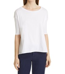women's frank & eileen core french t-shirt, size medium - white