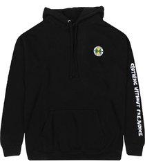 women's cross colours women's circle logo hoodie, size large - black