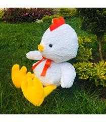 buykom tierno pollo peluche blanco mediano (366) entrega inmediata
