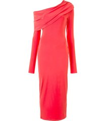 lapointe jersey cowl-neck dress - red