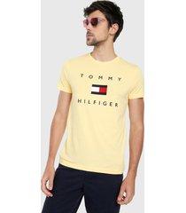 camiseta amarillo-azul-rojo tommy hilfiger
