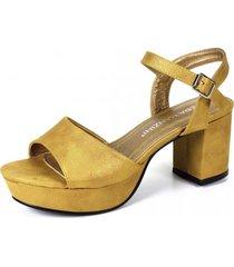 sandalia iride amarillo eda manzini