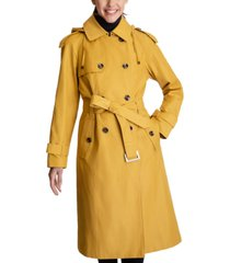 london fog petite belted hooded trench coat