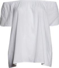 plus size women's caslon petal sleeve top, size 2x - white