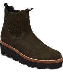 ankle boots shoes boots ankle boots ankle boots flat heel grön gabor