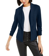 bar iii ruched-sleeve blazer, created for macy's
