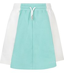 marni white and teal green skirt for girl with logo