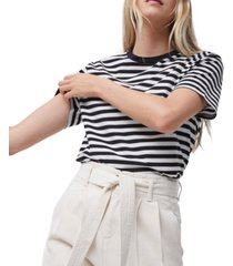 french connection cotton striped t-shirt