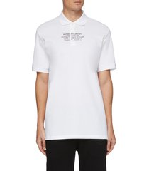 'arlo' coordinate print polo shirt